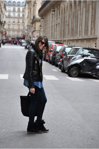 black Mango jacket - black Marc by Marc Jacobs bag