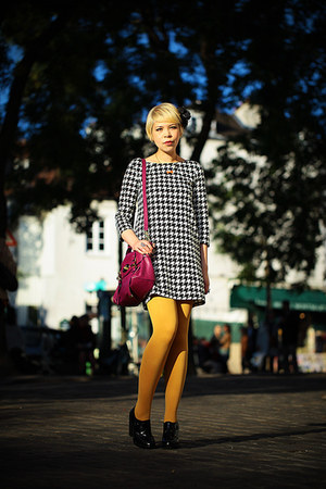 H&M dress - Carvela shoes - asos tights - Mulberry bag
