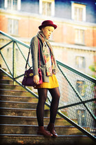 Ekyog skirt - Topshop boots - Urban Outfitters hat - Molly Bracken scarf
