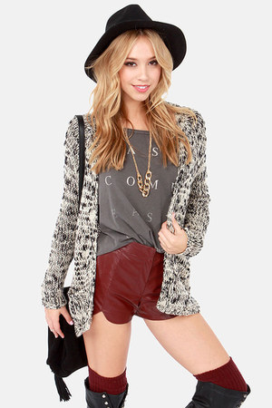black LuLus cardigan