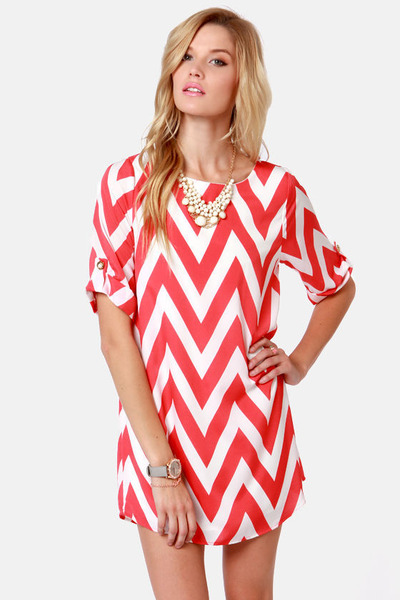 coral LuLus dress