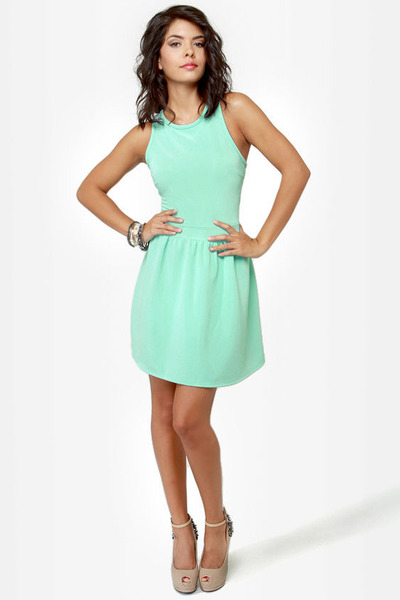aquamarine LuLus dress