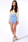 Periwinkle LuLus Shorts