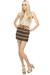beige lace inset LuLus blouse - brown crocheted LuLus skirt - light brown elasti