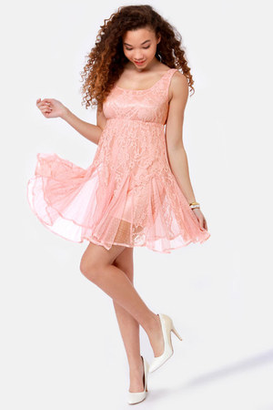light pink LuLus dress
