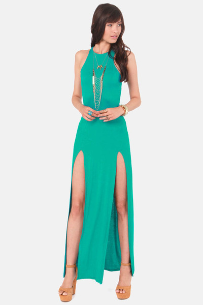 turquoise blue LuLus dress
