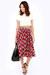 red LuLus skirt