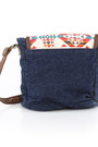 Navy Tribal Print Obey Bags