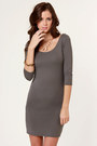 Heather Gray Lu Lus Dresses