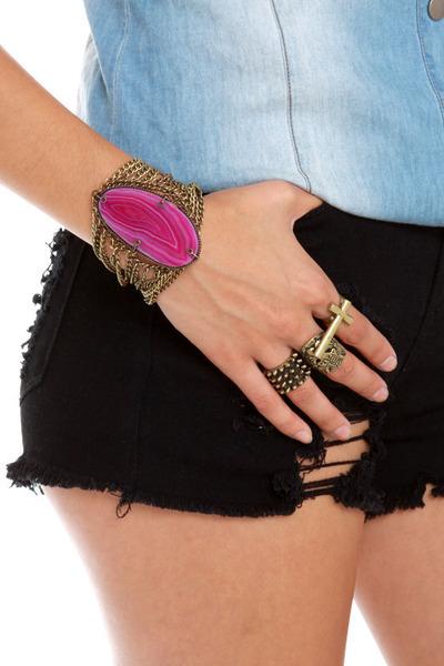 magenta LuLus bracelet