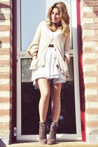Minelli boots - pull&bear dress - H&M cardigan