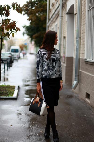 Topshop sweater - Topshop bag - Topshop skirt