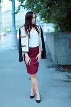 H&M shoes - Mango jacket - Massimo Dutti shirt - H&M skirt