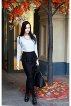 Topshop skirt - River Island boots - Mango sweater - Zara bag - Zara necklace