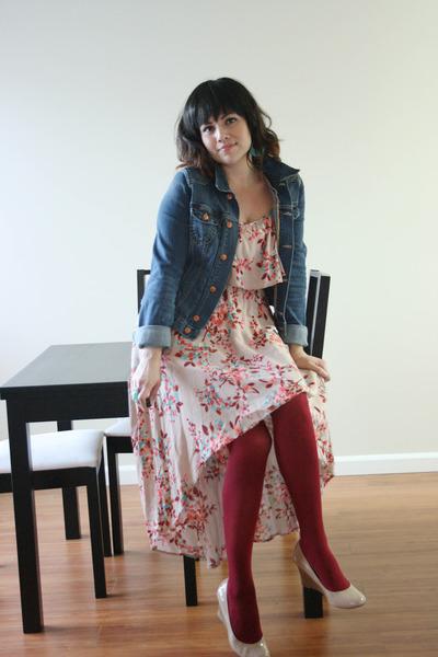 denim jacket H&M jacket - hi-low Charlotte Russe dress