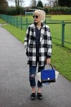 6ks coat - 6ks jeans - trapeze bag Celine bag - monk shoe Bertie loafers