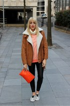 light orange Ellesse sweatshirt - tawny OASAP jacket