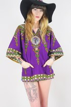 Purple-dashiki-tunic-vintage-top