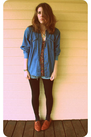 black Urban Outfitters blouse - silver Salvation Army shirt - black Old Navy leg