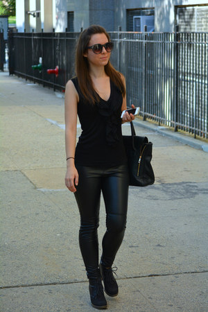H&M pants - DSW boots - Forever 21 purse - Forever 21 sunglasses - H&M top