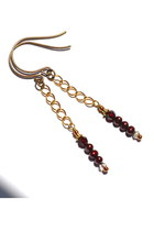 maroon Budget Luxuries earrings