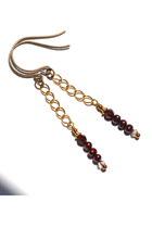 maroon Budget Luxuries earrings