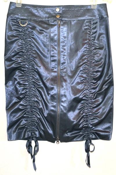 charcoal gray Bebe skirt