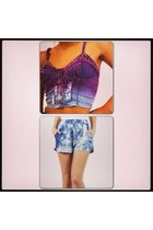 blue boutique shorts