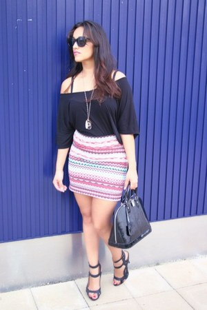 blue cotton Forever 21 skirt - black Rick Owens shirt