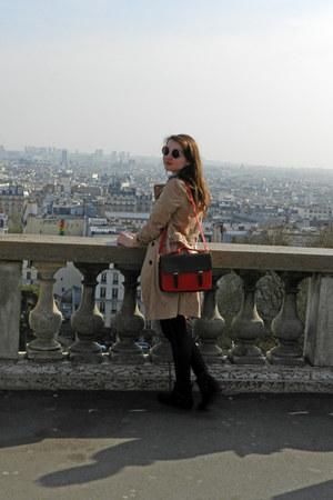 vintage bag - Pimkie boots - Promod coat - Pimkie jeans