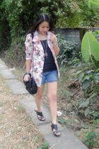 blazer - purse - shoes