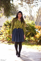Express cardigan - G by Guess shoes - Charlotte Russe skirt