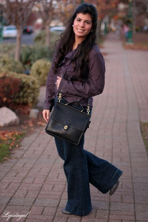 Gap shirt - Madden Girl boots - TJMaxx jeans - coach bag