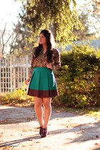 H&M skirt - leopard Anne Klein top - Jessica Simpson heels