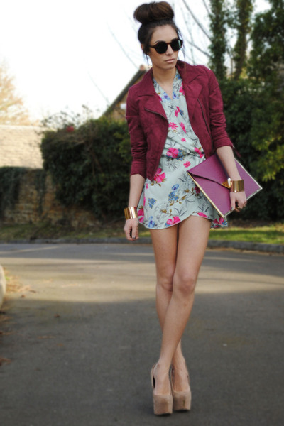 H&M Trend jacket - inlovewithfashion dress - River Island bag - H&M sunglasses