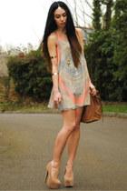 inlovewithfashion dress - H&M bag - Melody Direct heels - H&M bracelet