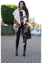 brown HAUTE DEMAND coat - black Marc B bag