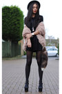 Black-inlovewithfashion-dress-peach-coosy-cardigan