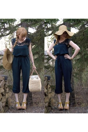 H&M hat - Lovely Girl romper - roberto vianni wedges