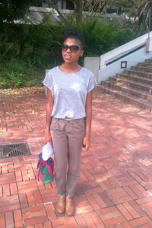 mr price shoes - Mr Price bag - edgars sunglasses - mr price black t-shirt
