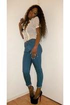 Christian Louboutin shoes - Dorothy Perkins jeans - blouse