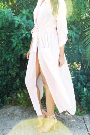 light pink chiffon zaful dress