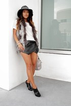 black booties leather Steve Madden boots
