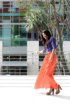purple Express blouse - f21 accessories - maxi tangerine Express skirt