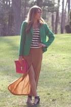 vintage blazer - TJ Maxx shirt - asos skirt - Jeffrey Campbell sandals - Forever