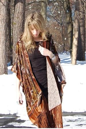 Forever 21 dress - shock boutique cape - BCBG heels