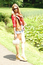 Old Navy shirt - Forever 21 scarf - vintage shorts - Karen Walker sunglasses - Z