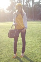 Marc Jacobs bag - Kasil Workshop jeans - Forever 21 hat - banana republic shirt