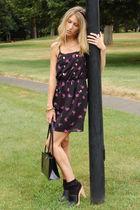 seychelles shoes - black Shop Hallelu dress - vintage furla bag