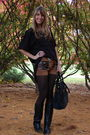 Black-sdvtg-shirt-brown-vintage-shorts-black-modcloth-boots-black-mimi-bou